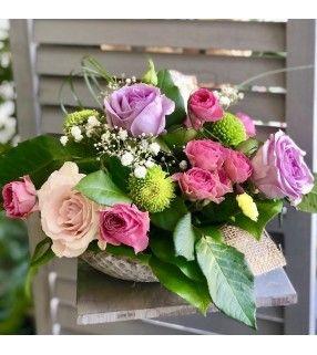 "Composition Roses Roses ""Plaisir"". AnyFleurs.fr"