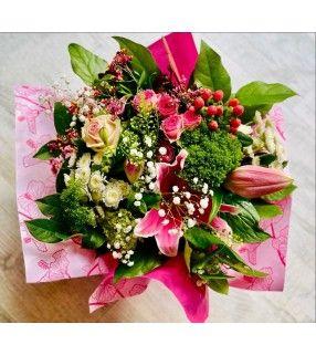 """Bouquet Fête des Mamans Spécial 30 Mai teinte rose """"Maman Chérie"""". Anyfleurs.fr"""