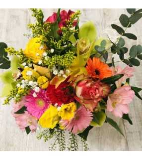 """Bouquet Coloré """" Bonbon"""". AnyFleurs.fr"""