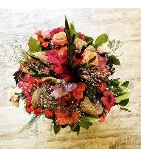 """Bouquet Conique Coloré """"Élite"""". AnyFleurs.fr"""
