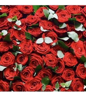 """Bouquet Rond de Roses rouges """"Opulent"""". AnyFleurs.fr"""