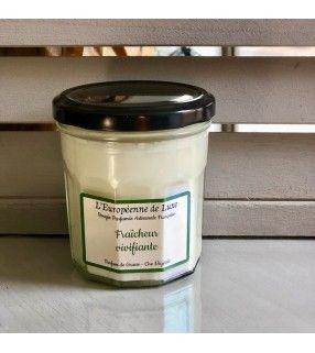Bougie Fraîcheur Vivifiante parfumée et artisanale Française. AnyFleurs.fr