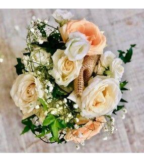 """Bouquet Demoiselle d'Honneur """"Abricotine"""". AnyFleurs.fr"""