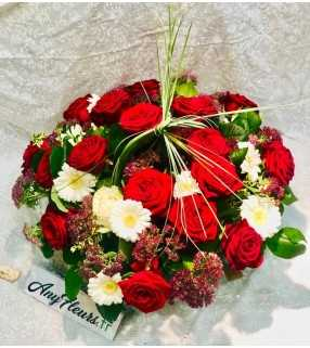 """Coupe Roses Rouges gros boutons """"Memory"""". AnyFleurs.fr"""