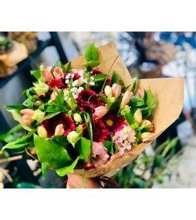 """Bouquet de Fleurs Roses en camaïeu pétillant et généreux""""Sérénité"""". AnyFleurs.fr"""